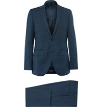 Hackett Blue Slim Fit Wool And Mohair Blend Suit Blue