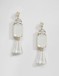 Lipsy Acrylic Bead Drop Earrings Clear