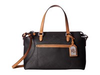 Lauren Ralph Lauren Lindley Addie Satchel Black Satchel Handbags