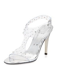 Stuart Weitzman Looking Good Crystal Evening Sandal Silver