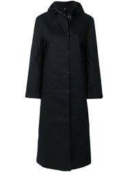 Alyx Snap Front Hooded Raincoat Black