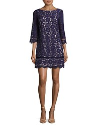 Vince Camuto Lacey Knee Length Dress Navy