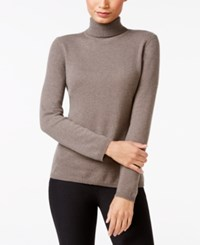 Charter Club Cashmere Turtleneck Sweater Only At Macy's 16 Colors Available Heather Mocha