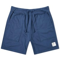 Save Khaki X New Balance Supima Fleece Trail Sweat Short Blue