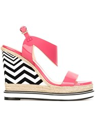 Nicholas Kirkwood 'Leda' Wedge Sandals Pink And Purple