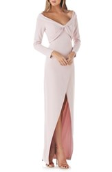 Kay Unger 'S Cross Front Gown Blush