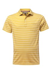 Tommy Hilfiger Men's Bessy Stripe Polo Top Yellow