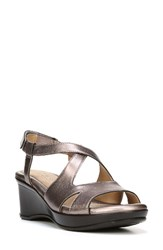 Naturalizer Women's Vilette Wedge Sandal Bronze Leather
