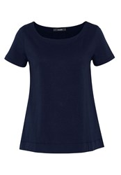 Hallhuber A Line Top With Box Back Pleat Blue
