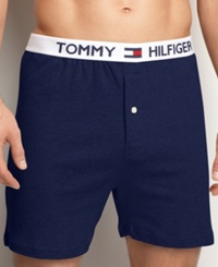 Tommy Hilfiger Men's Underwear Athletic Knit Boxer Masters Navy