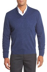 Men's Big And Tall Nordstrom Shawl Collar Cashmere Pullover