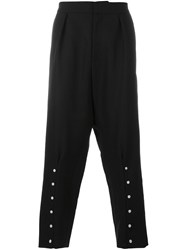 J.W.Anderson Drop Crotch Cropped Trousers Black