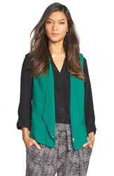 Trouve Asymmetrical Vest Green Evergreen