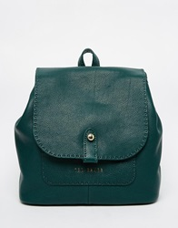 Ted Baker Leather Stab Stitch Backpack 30Darkgreen