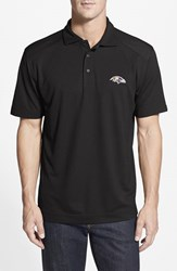 Men's Big And Tall Cutter And Buck 'Baltimore Ravens Genre' Drytec Moisture Wicking Polo Black