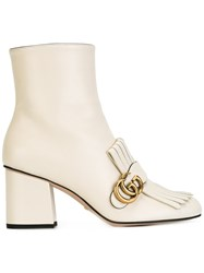 Gucci Fringed Ankle Boots Nude Neutrals