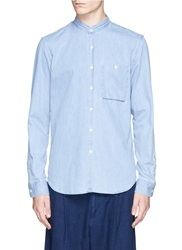 Denham Jeans 'Riz Banded 70Zh' Cotton Denim Shirt Blue
