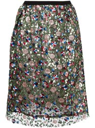 Odeeh Sequined Skirt Green