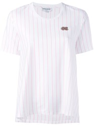 Opening Ceremony Striped Flared T Shirt White