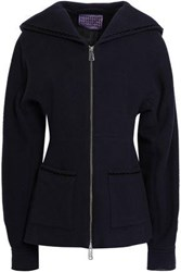 Alexachung Woman Wool Felt Jacket Midnight Blue