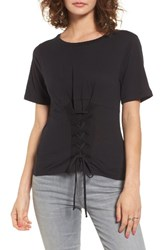 Pst By Project Social T Women's Corset Tee Black