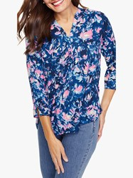 Nydj The Perfect Blouse Bougainvillea