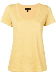 Theory Scoopneck T Shirt Yellow