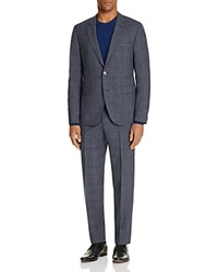 Hugo Glen Plaid Windowpane Regular Fit Suit Dark Gray