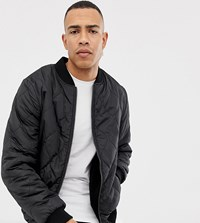 Jacamo Tall Quilted Jacket With Borg Lining Black