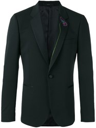 Paul Smith Floral Embroidered Blazer Black