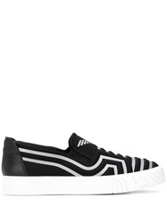 Emporio Armani Quilted Slip On Sneakers Black