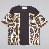 Stine Goya Pica Top In Papercut Gold
