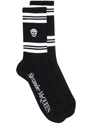 Alexander Mcqueen Skull Knitted Socks Black