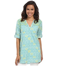 Hatley Classic Tunic Tide Broken Chevron Women's Clothing Green