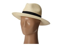 Hat Attack Panama Continental Natural Navy Brown Traditional Hats Beige
