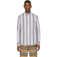 Burberry Blue Striped Icon Runway Shirt