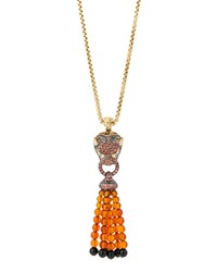 Classic Chain 18K Gold Lava Macan Tassel Necklace John Hardy Blue