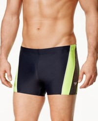 Speedo Men's Ignite Splice Coloblocked Swim Trunks New Navy