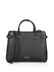 Burberry Banner Leather Satchel Black