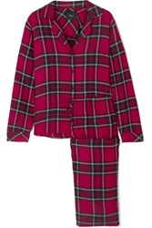 Rails Checked Flannel Pajama Set Red