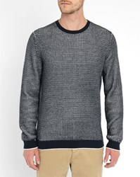 Tommy Hilfiger Blue Darrel Micro Pattern Cotton Sweater