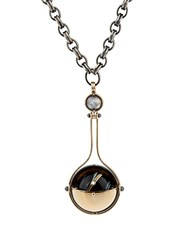 Elie Top Diamond Onyx And Yellow Gold Pluton Necklace