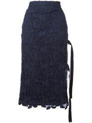 N 21 No21 Lace Overlay Skirt Blue