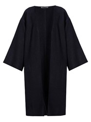 Denis Colomb Kimono Cashmere And Camel Blend Coat Navy