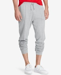 Polo Ralph Lauren Men's Ribbed Jogger Pants Andver Heather Grey