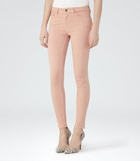 Reiss Stevie Womens Low Rise Skinny Jeans In Pink