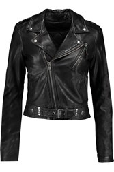 Blk Dnm Leather Jacket Black