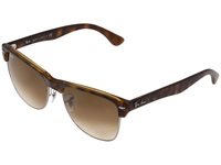 Ray Ban Rb4175 Oversized Clubmaster 57Mm Demi Shiny Havana Brown Gradient Fashion Sunglasses