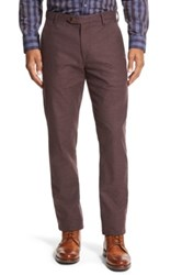 Ted Baker 'Lommy' Classic Fit Brushed Cotton Trousers Purple