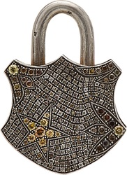 Sevan Bicakci Flower And Star Padlock Charm